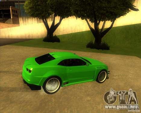 Chevrolet Camaro para GTA San Andreas left