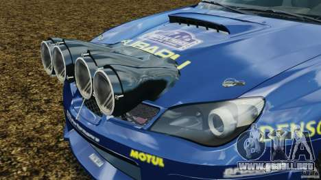 Subaru Impreza WRX STI N12 para GTA 4 vista superior