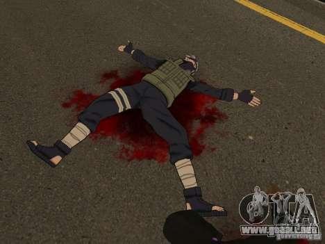 Hatake Kakashi From Naruto para GTA San Andreas segunda pantalla