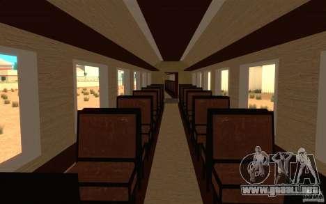 Locomotive para GTA San Andreas vista hacia atrás