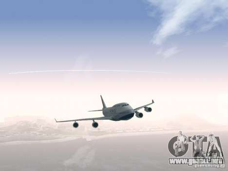 Boeing 747-400 China Airlines para la vista superior GTA San Andreas