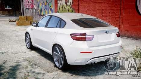 BMW X6M v1.0 para GTA 4 Vista posterior izquierda