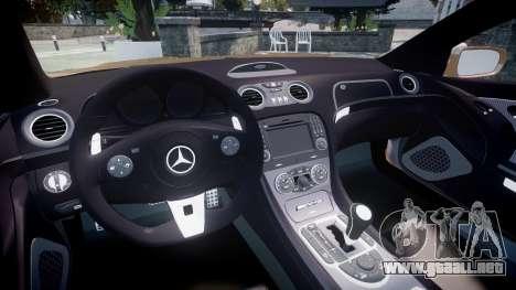 Mercedes-Benz SL65 AMG Black Series para GTA 4 vista hacia atrás