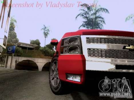 Chevrolet Cheyenne Single Cab para GTA San Andreas vista hacia atrás