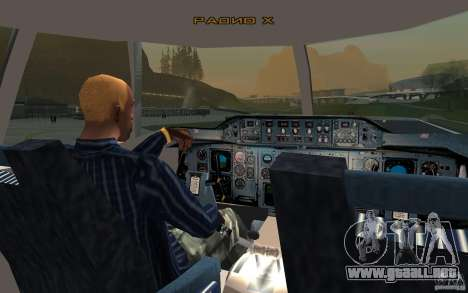 Airbus A310 S7 Airlines para la visión correcta GTA San Andreas