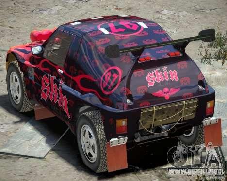 Mitsubishi Pajero Proto Dakar EK86 vinilo 4 para GTA 4 visión correcta
