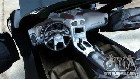 Chevrolet Corvette C6 Convertible v1.0 para GTA 4 visión correcta