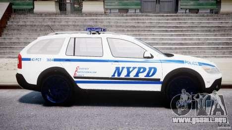 Skoda Octavia Scout NYPD [ELS] para GTA 4 left