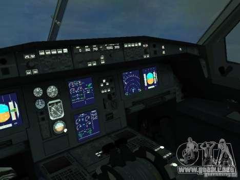 El Airbus A330-300 Aeroflot para visión interna GTA San Andreas