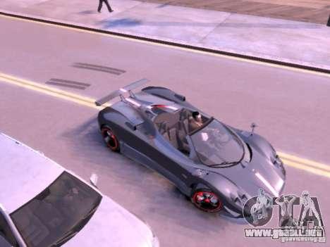 Pagani Zonda Cinque Roadster v 2.0 para GTA 4 Vista posterior izquierda