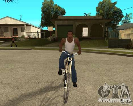 Diamondback strike Beta para GTA San Andreas vista hacia atrás