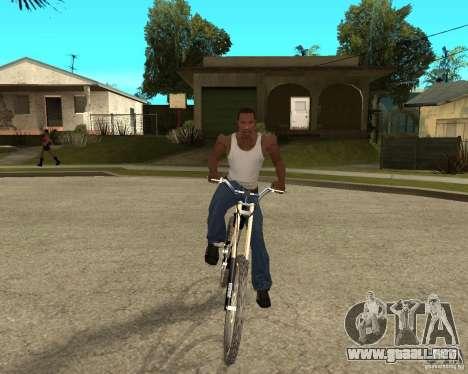 Diamondback strike Beta para GTA San Andreas vista hacia atrás
