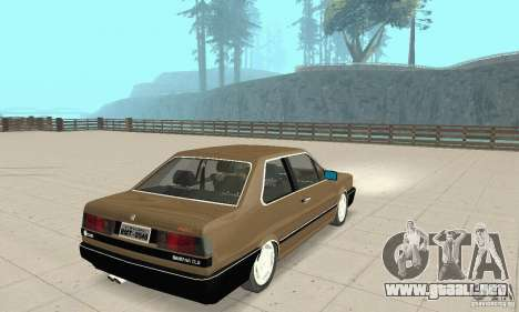 Volkswagen Santana GLS 1989 para GTA San Andreas vista posterior izquierda