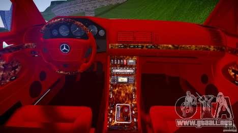Mercedes Benz SL600 W140 1998 higher Performance para GTA 4 vista lateral
