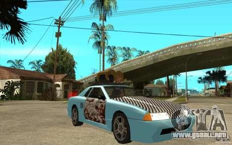 Elegy Rost Style para GTA San Andreas vista hacia atrás