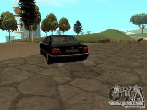 BMW 740I E38 (RUS) para GTA San Andreas vista posterior izquierda