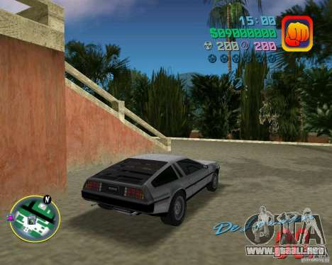 DeLorean DMC 12 para GTA Vice City vista lateral izquierdo