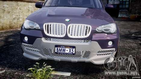 BMW X5 xDrive 4.8i 2009 v1.1 para GTA 4 vista lateral