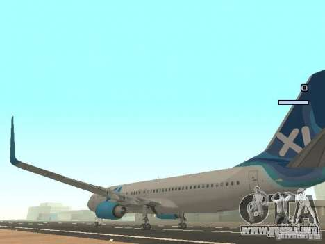 XL Airways 737-800 para GTA San Andreas vista posterior izquierda