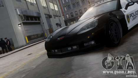 Chevrolet Corvette LCPD Pursuit Unit para GTA 4 visión correcta