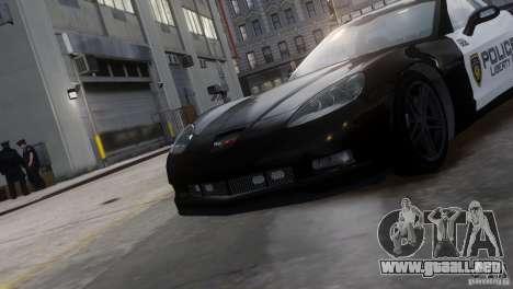 Chevrolet Corvette LCPD Pursuit Unit para GTA 4 visión correcta
