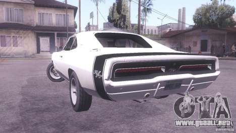 Dodge Charger R/T para GTA San Andreas left