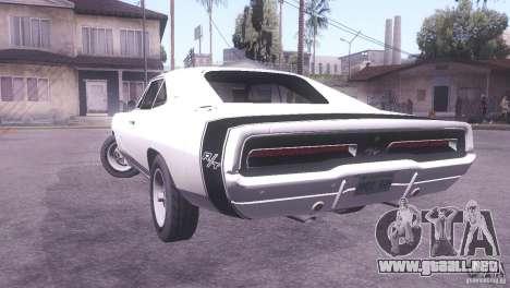Dodge Charger R/T para GTA San Andreas left