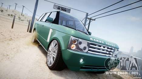 Range Rover Vogue para GTA 4 vista lateral