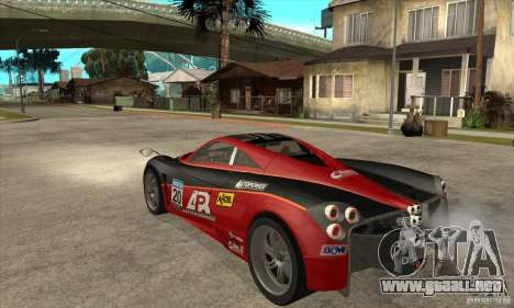 Pagani Huayra ver. 1.1 para la visión correcta GTA San Andreas