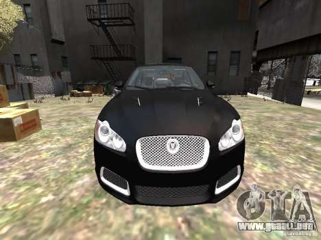 Jaguar XFR para GTA 4 vista superior