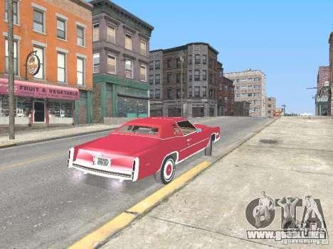 Cadillac Eldorado para GTA San Andreas vista hacia atrás