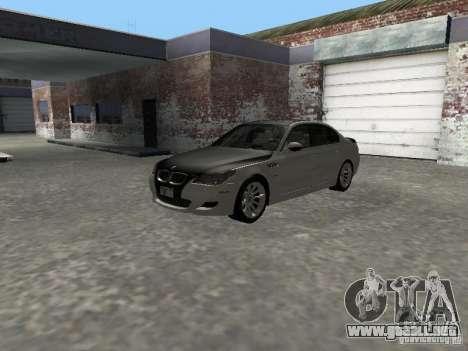 BMW M5 E60 2009 v2 para visión interna GTA San Andreas
