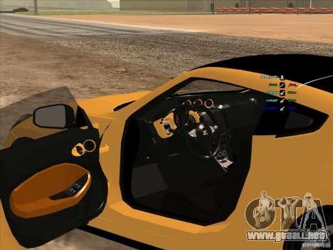 Nissan 370Z para la visión correcta GTA San Andreas
