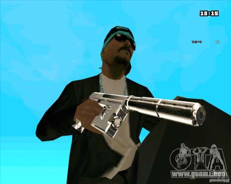 Chrome Weapon Pack para GTA San Andreas