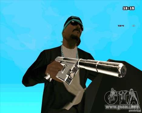 Chrome Weapon Pack para GTA San Andreas