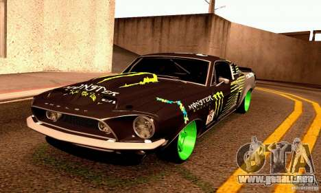 Shelby GT500 Monster Drift para vista lateral GTA San Andreas