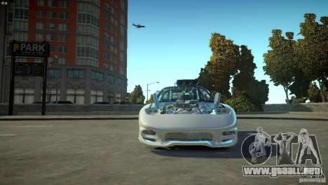 Mazda rx7 Dragster para GTA 4 vista interior