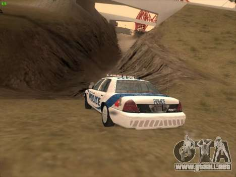 Ford Crown Victoria Vancouver Police para vista lateral GTA San Andreas