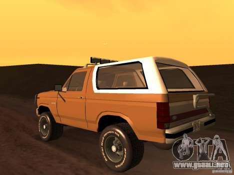 Ford Bronco 1985 para GTA San Andreas left