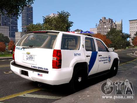 Chevrolet Tahoe Homeland Security para GTA 4 left