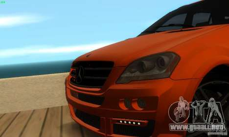 Mercedes-Benz ML63 AMG Brabus para la vista superior GTA San Andreas