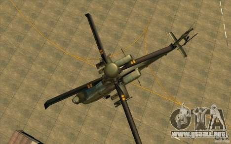 Apache AH64D Longbow para vista lateral GTA San Andreas