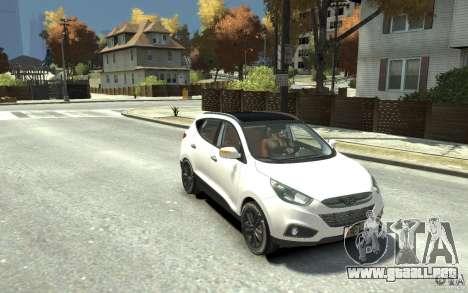 Hyundai IX35 2010 Beta para GTA 4 vista hacia atrás