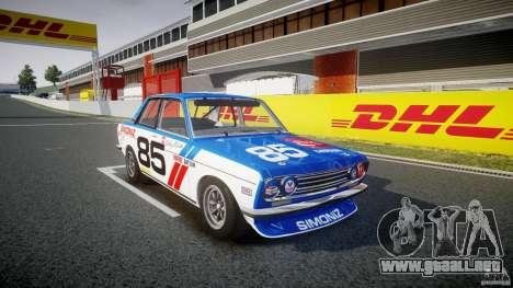 Datsun Bluebird 510 1971 BRE para GTA 4 visión correcta