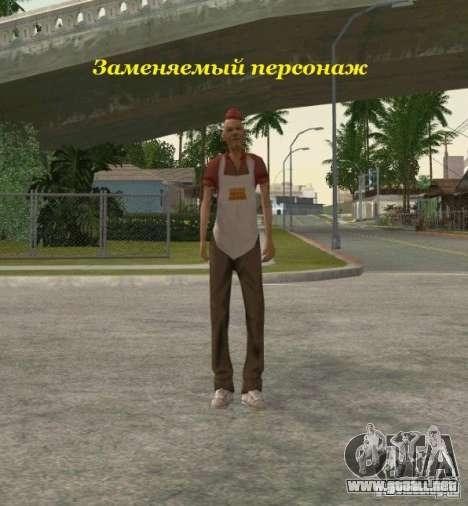 Agrupación de mercenarios de un acosador para GTA San Andreas octavo de pantalla