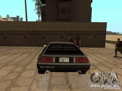 DeLorean DMC-12 1982 para GTA San Andreas vista posterior izquierda