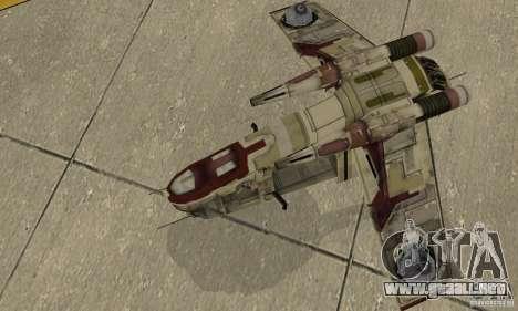 Cañonera de la República de Star Wars para la visión correcta GTA San Andreas