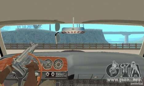 Plymouth Cuda AAR 340 1970 para visión interna GTA San Andreas