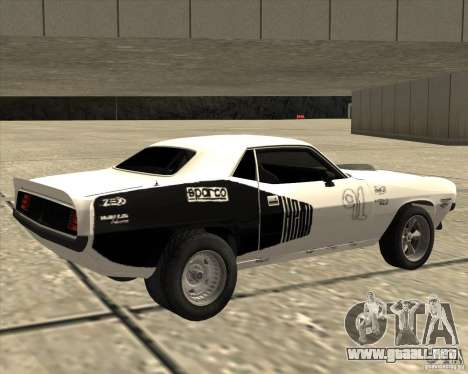 Plymouth Hemi Cuda Rogue para GTA San Andreas left