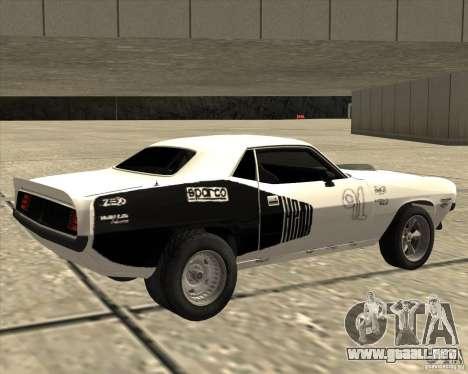 Plymouth Hemi Cuda Rogue para GTA San Andreas left